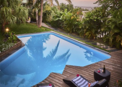 Soirée sur la Villa Roméo chambre d'hôtes de charme sur La Réunion