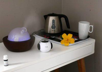 Le diffuseur d'huiles essentielles, présent dans chaque chambre