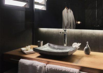 Aperçu d'une chambre de la Villa Roméo, chambre d'hôtes de charme sur La Réunion sur la commune d'Etang Salé